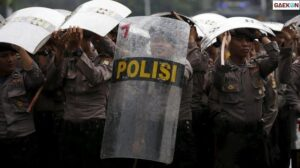 Tolak Omnibus Law Mahasiswa Mulai Berkumpul di Patung Kuda Jakarta