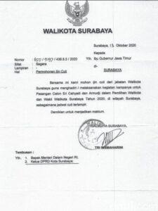 Risma Ajukan Cuti Tiap Pekan ke Gubernur Untuk Kampanye Pilwali Surabaya