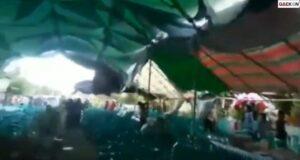 Angin Kencang Bikin Tenda Resepsi Ambruk, Tamu Undangan Berhamburan