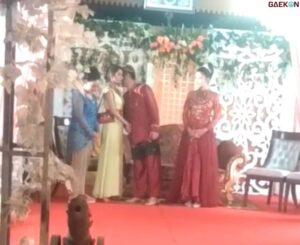 Viral Video Wanita Hadiri Pernikahan Mantan Sendiri, Endingnya Bikin Kaget Netizen