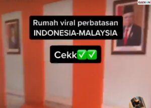 Rumah Unik Di Perbatasan, Dapur Malaysia Ruang Tamu Indonesia