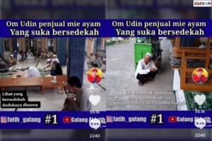 Bikin Netizen Menangis Pria Ini Sedekahkan Mie Ayamnya Bahkan Ia Rela Makan Sendiri Sambil Jongkok