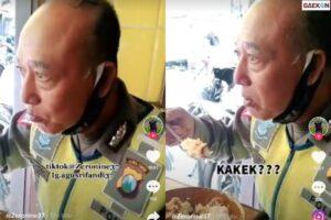 Viral, Paras Polisi Senior Ini Mirip Kakek Sugiono