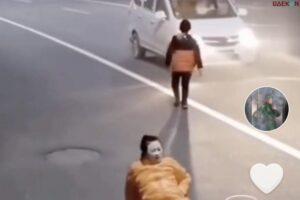 Viral Video Detik-Detik Sang Anak Berlutut Di jalan Minta Tumpangan Ketika Sang Ibu Mau Melahirkan
