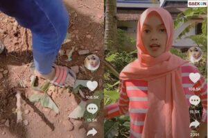 Viral Video Cewek Rusak Tanamannya dan Sebut Sampah