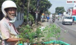 Kakek Renta Ini Berkeliling Jualan Tanaman Kelor, Netizen Bantu Promosikan