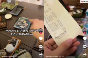 Warganet Sesak Dada Lihat Tagihan Resto Crazy Rich Surabaya Ini