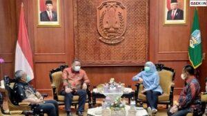 Wishnu Sakti Bertemu dengan Gubernur Khofifah Bahas Koordinasi COVID-19