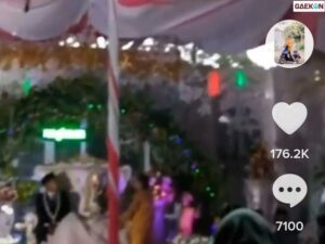 Mendadak Panik Acara Pernikahan Diterjang Angin Kencang Dekorasi Pernikahan Nyaris Roboh