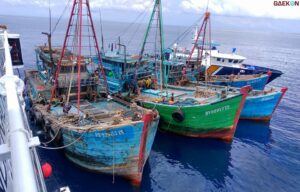 Ilegal Fishing, 10 Unit Kapal Ikan Asing Milik Vietnam Ditenggelamkan Paksa