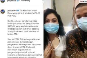 Pelat Nomor Palsu Alias Bodong, Ini Klarifikasi Wanita Pamer Mobil Dinas Yang Sempat Viral