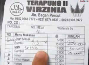 Heboh Warung Makan Terapung Patok Harga Untuk Biaya Servis Gara-Gara Pelanggan Tak Pesan Nasi