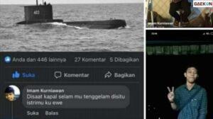 Ngaku FB Dibajak, Pria Ini Viral Karena Komentar Cabul Soal KRI Nanggala