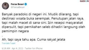 Kritik Orang Nomor Satu Di Indonesia, Susi Pudjiastuti Balas Cuitan Fiersa Besari