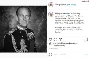 Sempat Dirawat Di Rumah Sakit, Pangeran Philip Meninggal Dunia Di Usia 99 Tahun