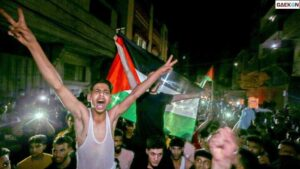 Kembang Api Hiasi Langit, Warga Palestina Rayakan Gencatan Senjata Israel-Hamas