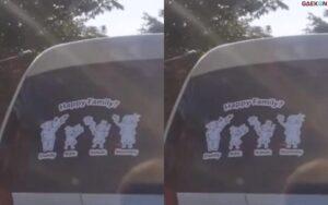 "Bikin Salah Fokus, Stiker ""Happy Family"" Ini Pegang Gadget Masing-Masing"