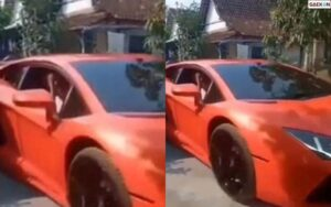 Viral Mobil Lamborghini Masuk Gang Kecil, Ternyata Pemiliknya Dulu Usaha Pecel Lele
