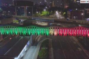 Sebagai Bentuk Solidaritas, Lampu Bernuansa Bendera Palestina Dipasang 2 Minggu Di 9 Lokasi Di Jakarta