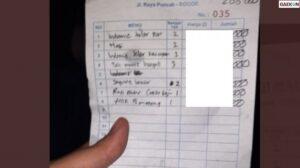 Viral Nota Pembayaran Warkop Di Puncak Bogor, Perkalian Penjual Bikin Mumet