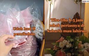 H-5 Jam Acara Pernikahan, Mempelai Wanita Dibikin Panik Karena MUAnya Hendak Melahirkan