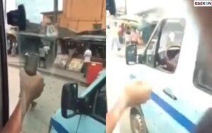 Rekam Video Dibalik Jendela Bus, Hp Orang Ini Dijambret