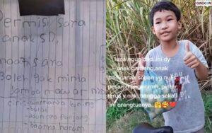 Viral Anak SD Minta Jambu Izin Nulis Surat Di Pagar Rumah Pemiliknya