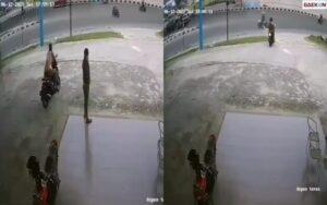 Terekam CCTV, Pria Ini Nekat Nyuri Meja Di Depan Outlet