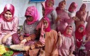 Viral Emak-Emak Pakai Dress Code Pink Hanya Untuk Nobar Lamaran Lesti Dan Billar