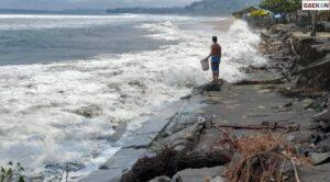 Gelombang Tinggi Hingga 4M, BMKG Himbau Warga Pesisir Pantai Citepus Tetap Waspada