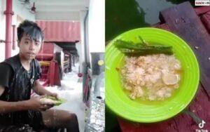Asik Makan Di Atas Kapal, Nasi Cowok Ini Tersapu Ombak