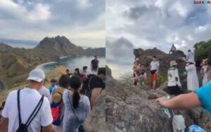 Viral Video Pulau Padar Dipenuhi Wisatawan, Warganet: Gapapa Liburan, Yang Penting Kan Gak Mudik