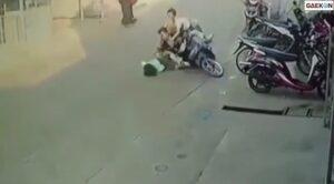 1 Anak Perempuan Tertabrak Sepeda Motor Saat Menyeberang
