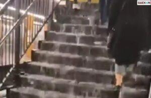 Hujan Lebat, Sejumlah Stasiun Kereta Api Bawah Tanah Di New York Banjir