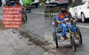 Jual Pulsa Keliling, Semangat Bapak Penyandang Disabilitas Ini Bikin Warganet Terharu
