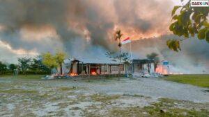 Massa Bakar Sejumlah Kantor Pemerintahan Yalimo, Polda Papua Kirim 2 Regu Brimob