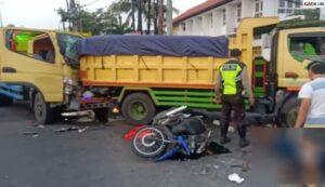 Tabrakan Beruntun Di Sidoarjo, 1 Orang Pengendara Motor Tewas