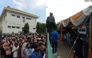 Viral Ribuan Warga Di Lampung Berdesakan Antre Vaksin