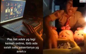 Bikin Salah Fokus, Peserta Kemah Online Ini Siapkan Boneka Babi Dan Lilin Bak Ritual Pesugihan Babi Ngepet