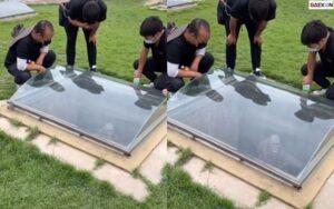 Ngeri, Pemakaman Ini Transparan Hingga Terlihat Bagian Dalamnya