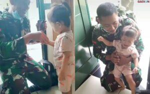 11 Bulan Dinas, Pulang-Pulang Anggota TNI Ini Tak Dikenali Anaknya