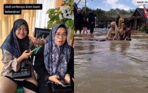 Mendadak Dilanda Banjir, Pasangan Pengantin Ini Lakukan Sesi Foto Di Dalam Genangan Air