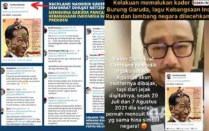 Diduga Menistakan Lagu Indonesia Raya Dan Simbol Negara, Politisi Demokrat Diserang Warganet