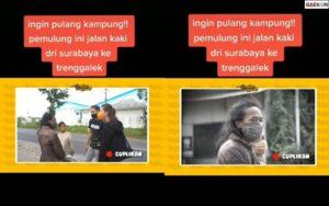 Bikin Haru, Pemulung Ini Nekat Mudik Dari Surabaya Ke Trenggalek Dengan Berjalan Kaki