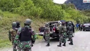 Kontak Tembak Dengan KST Di Kiwirok, 1 Anggota TNI Gugur Saat Hendak Evakuasi Jenazah Suster Gabriella