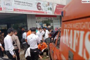 Temukan 10 Kelereng, Polisi Lakukan Olah TKP Kasus Penembakan Bank Sinarmas Pontianak