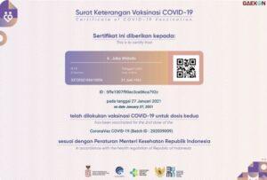 Data Sertifikat Vaksin Jokowi Bocor, Warganet Pertanyakan Soal Perlindungan Data Pribadinya