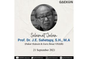 Pakar Hukum J.E Sahetapy Meninggal Dunia, Guru Besar Unair: Prof Sahetapy punya tempat istimewa dalam penegakan hukum di Indonesia