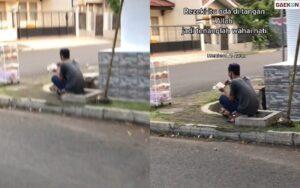 Viral, Pria Penjual Roti Di Pinggir Jalan Ini Baca Al Quran Sembari Menunggu Dagangannya