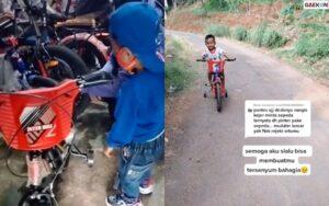 Anaknya Merengek Minta Sepeda, Ibu Ini Tabung Uang Logam Untuk Membelikannya
